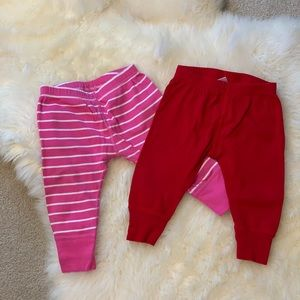 2 pairs of Hanna Andersson wiggle pants. Size 70